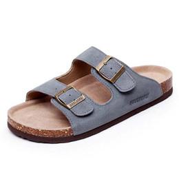 Black flat platform strap sandals fashion online shopping - New Women and men sandals Flat Sandals Platform Casual Beach Slippers Cork slippers