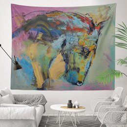 Sublimation Cotton NZ - Colorful and Best Price Sublimation Custom Printed Decorative House 130x150cm Abstract impression Pictures 400g Wall Tapestry