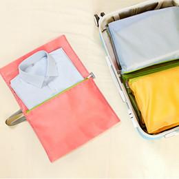 Types Set Clothes Australia - 4 pcs set Travel Storage Bag Luggage shirt Clothes Tidy Organizer Pouch Suitcase Portable classification Storage bag
