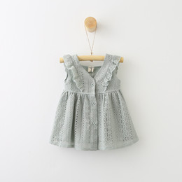 China Girl Lace Flounce Floral Party Wedding Cute Flower Princess Dresses Infant Toddler Baby Girls Clothing Lace Dress 0-5 years cheap cute baby girls weddings dress suppliers