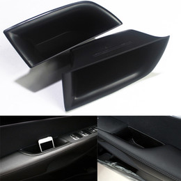 front seat organizer Canada - Car Front Row Armrest Side Door Handle Storage Box Black For Kia Sorento 2015-2017 New