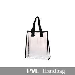 pvc beds 2019 - Portable Clothing Storage Bag Fashion Travel PVC Summer Beach Bag Handbag for Women Girls Hand Carry Swimming Bag cheap
