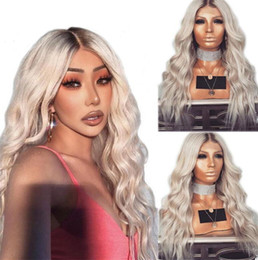 Discount two tone wavy lace wigs - Ombre Two Tone T1B 613 Full Lace Human Hair Wig Wavy Brazilian Virgin Hair 150% Density Pre-plucked Hairline Lace Front