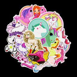 $enCountryForm.capitalKeyWord Australia - 30pcs Bardian Cartoon Wall Sticker Unicorn Horse Pattern Decals For Suitcase Skateboard Car PVC Stickers Decor Multi Colors 4 5sd YY