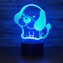 $enCountryForm.capitalKeyWord NZ - Lovely Dog 3D Illusion light Lamp 5th Battery Bin USB Powered 7 RGB Light DC 5V Wholesale Free Shipping