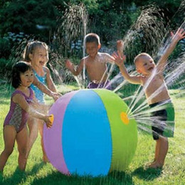 75cm Inflatable Sprinkler Ball Beach Ball Outdoor Spray Ball for Summer Outdoor Play Inflated Toy DHL Free Shipping from cheap good toys suppliers