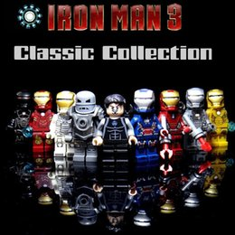 Iron Man Mini Toys NZ - Mini Iron Man Patriot Midas War Machine Tony Stark Gemini Mark 1 4 16 21 35 39 Toy Figure Building Block