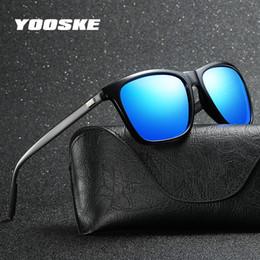 d03f7a750b7 YOOSKE Unisex Retro Polarized Sunglasses Womens Mens Aluminum Magnesium  Alloy Driving Sun Glasses Vintage Square Eyewear for Men