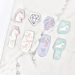 Cute korean bookmarks online shopping - Cute Kawaii Cartoon Animal Unicorn Magnetic Bookmarks School Supplies Paper Clip Creative Korean Stationery For Kids Gift