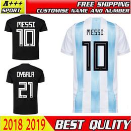441964ec2 2018 World Cup Argentina away Jersey Argentina MESSI DYBALA AGUERO HIGUAIN soccer  shirt home national team Football jersey free ship DHL