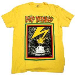 376e5b946 Brain t shirts online shopping - Bad Brains T Shirt First Album Cover  Official Yellow Hardcore