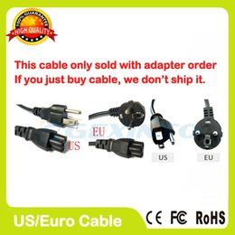 Wholesale EU US plug AC Power Cord cable for laptop adapter lead Adapter
