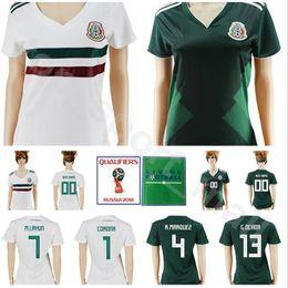 318c9e1630d Mexico Women Soccer Jersey Mexican Lady 4 MARQUEZ 7 LAYUN 9 JIMENEZ 1  CORONA 13 OCHOA 2018 World Cup Woman Football Shirt Kits Make Custom
