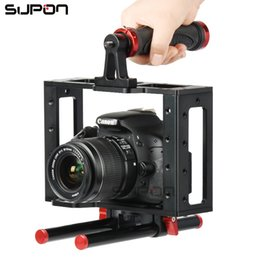 $enCountryForm.capitalKeyWord Canada - Supon Multi-function Camera Video DV Cage FOR Film Making Movie Video+Handle Grip+Rod for 5D 700D 650D D7200 DSLR