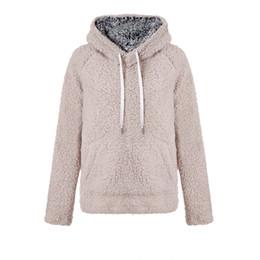 Mulheres Sherpa Hoodies de Lã Pullover Camisola Cashmere Moletons Inverno Quente Outwear Casaco Com Capuz Pullover Streetwear PLus tamanho NOVO