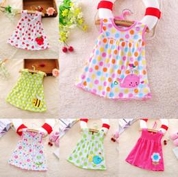 $enCountryForm.capitalKeyWord NZ - 39 styles Summer cute baby vest dress cotton flower dot striped pear tees T-shirt 0-18M baby girls cartoon dress T-shirt