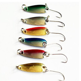free trout lures NZ - TOMA Free shipping 10pcs 2.5g fishing metal spoon baits metal spinner lure trout spoon mini bait wobbler artificial spoon
