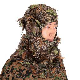 $enCountryForm.capitalKeyWord NZ - Camouflage Leafy Hunting Ghillie Hood Green Leafy Head Net Eyehole Opening and Leaf Pattern Outdoor Hunting Ghillie Head Net