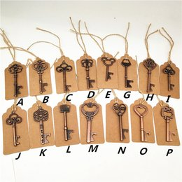 Apribottiglie chiave apribottiglie in metallo vintage con portaborraccia e biglietto da visita bomboniera in Offerta