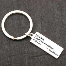 keychain drives Canada - Couples Keychain Drive Safe I Need You Here With Me With Me Keyring Custom engraved Alloy Keyfob Bagchain Gift for her  him