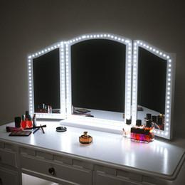 LED Makeup Mirror Strip light 13ft 4M 240LEDs Vanity Mirror Lights LED Strip Kit Mirror For Makeup table Set with Dimmer S Shape on Sale