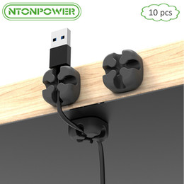 $enCountryForm.capitalKeyWord NZ - winder NTONPOWER CMS 10pcs Soft Silicone Winder Desktop Wire Organizer Earphone Cable Holder Clip Mouse Cord Protector Management