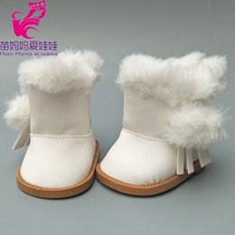 shoes for baby dolls NZ - 18 inch American Girls Dolls Fur Snow Boots shoes for Alexander doll accessory baby born doll winter shoes girl gift