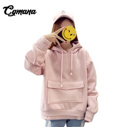 Wholesale tracksuit for plus women resale online – CGmana Women Sweatshirt Autumn And Winter Korean Thicken Loose Hoodies For Women Plus Velvet Hoodie Harajuku Girl Tracksuit