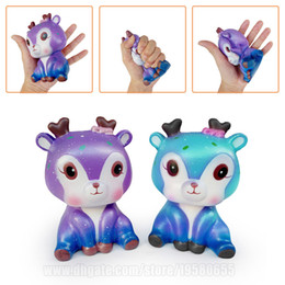 Wholesale nippon online – design Sika Deer Slow Rising Squishy Toys Squeeze Kawaii Squishies Cervus Nippon Animals C Phone Strap DHL SQU072