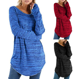 China Plus Size T Shirt Women Long Sleeve Loose Tops Tunic T-Shirt Casual Solid Color Baggy Basic Tshirt Female Tee Shirt Femme L-5XL supplier loose tunic shirts suppliers