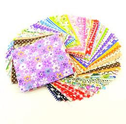 fabric patchwork clothes NZ - DIY 50pcs lots 10x10cm Not repeating Muticolor Twill Square Fabric Bundle cotton Patchwork Clothing Sewing Quilting Crafts