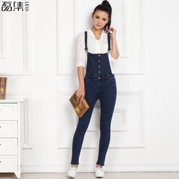 8e25ba3d8b2 Plus Size Denim Romper Jumpsuit NZ - 2017 Plus Size Women Loose pencil Denim  Overalls Jumpsuit