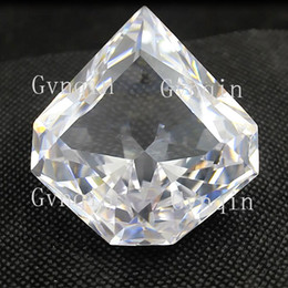 loose gems NZ - free shipping by DHL white Paragon diamond loose cubic zirconia gem stones