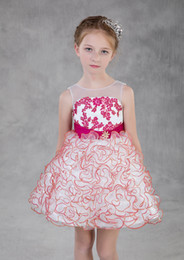 daughter mother wearing same dress NZ - 2018 hot pink Mother And Daughter Lace Kids Form Wear With Ruffles Jewel Neck Zipper Back Flower Girls' Dress Cheap Dresses Evening Wear