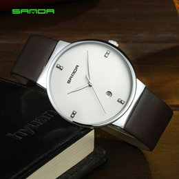 $enCountryForm.capitalKeyWord Australia - Sanda Brand New Arrival Mens Watch Leather Strap Quartz Wristwatches for Man Male Gift Clock Army Time Relogio Masculino Reloj Dropshipping