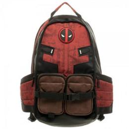 f6b9906a048b Deadpool School Bags Comics Deadpool Super Hero Movie School Bag Travel  Deadpool Laptop Backpack Outdoor Bags CCA10306 6pcs