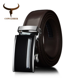 Men's Belts Cowather Vintage Cow Genuine Leather Belts For Men Cowhide Male Strap Automatic Metal Buckle High Quality Men Belts 110-130cm Factory Direct Selling Price