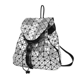 $enCountryForm.capitalKeyWord UK - 2016 Women's Backpack Bao Bao Geometric Patchwork Diamond Lattice Ladies Backpack For Teenage Girl BaoBao School Bags sac a dos