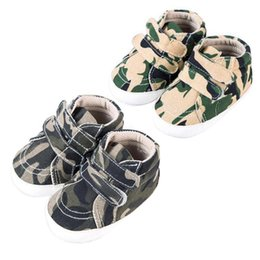 $enCountryForm.capitalKeyWord Australia - Baby Shoes Newborn Kids Toddlers Canvas Cotton Crib Camouflage Shoes Lace Up Casual Prewalker First Waller for 0-1 Year
