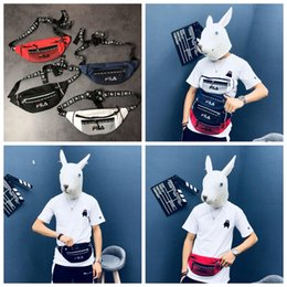 Boys hunting online shopping - Letter Printed Waist Bag Colors Functional Fanny Packs Boys Girl Travel Shoulder Cross Body Outdoor Bags OOA5553