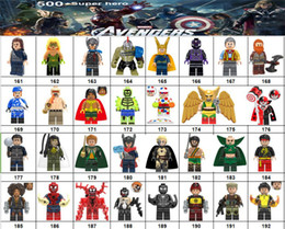 Marvel Blocks Figure Canada - Wholsale Super hero Mini Figures Marvel Avengers DC Justice League Wonder woman Deadpool Batman Captain Logan building blocks kids gifts