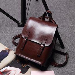 aed689bcb64 chunhcao 100% Genuine Leather Backpack Women s Designer Brand Travel Bags  School Bags For Teenage Girl Mochilas Femininas 2018