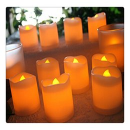 Flameless Candles Free Shipping Australia - New Flameless LED Lights Candles Wavy Edge Electronic Candles for Wedding Party Home Decoration Free Shipping