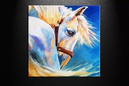 $enCountryForm.capitalKeyWord Australia - Handpainted Modern Horses Animals abstract oil painting Reproduction Canvas Wall Art on canvas Living Room Home Office Decor,Multi Sizes S26