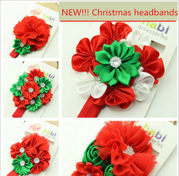 Red Roses For Hair NZ - New Christmas headband baby hair accessories Daisy headbands rose flower hair band for girls 5 colors on sale