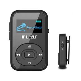 Wireless bluetooth voice recorder online shopping - Mini RUIZU X26 Clip wireless Bluetooth MP3 player GB Sport mp3 music player Recorder FM Radio Support TF Card Free Armband