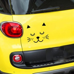 Painting Faces Australia - 15*12.7cm Cat Face Cartoon Vinyl Decal Stickers For Home Cars Walls Cups Bumper Cars Truck Art Painting Modern Decal