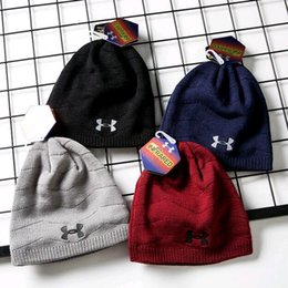 Wholesale F New style Woollen hat autumn winter fashion knitted hat Korean version of men cover head cap lovers without a hat