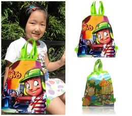 $enCountryForm.capitalKeyWord Australia - Free Shipping MOQ=12pcs El Chavo Trolley Cartoon Drawstring Backpacks 34*27CM Non Woven Fabrics School Shopping Bags Kids Party Gift Bags