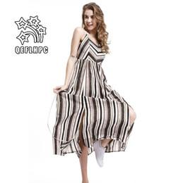 3667a6cdb2fdd Women's clothes. Dress. Summer. Sexy beach chiffon dress. Thin. Chiffon  fabric. Casual Dresses. chambray. Longuette. Striped.